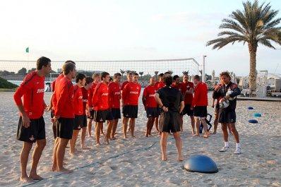 «Спартак» провел тренировку на пляже