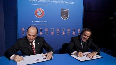 ЕПФЛ и УЕФА подписали Меморандум о Взаимопонимании