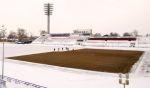 В Нижнем Новгороде готовят к сезону газон стадиона «Локомотив»