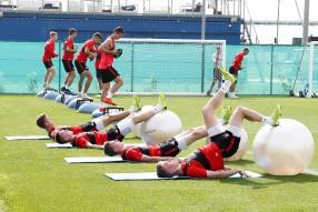 Силовая тренировка «Спартака»