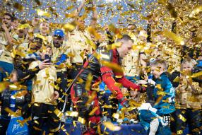 Церемония вручения «Зениту» трофея чемпионов РПЛ