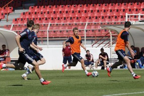 Тренировка сборной 12.06.2014