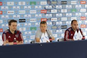 Тренировка сборной и пресс конференция 19.06.2014
