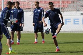 Тренировка сборной и пресс конференция 20.06.2014