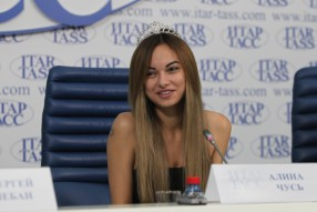 Пресс-конференция «Мисс Премьер-Лига 2014»