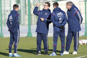 Тренировка сборной России 23.03.2015