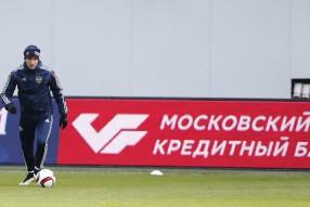 Тренировка сборной России 24.03.2015