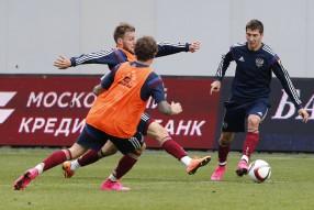 Тренировка сборной России 02.09.2015