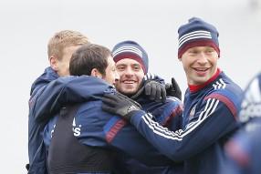 Тренировка сборной России 25.03.2015