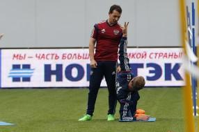 Тренировка сборной России 03.09.2015