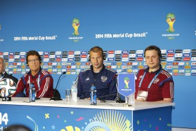 Тренировка сборной и пресс конференция 25.06.2014