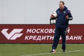 Тренировка сборной России 06.10.2015