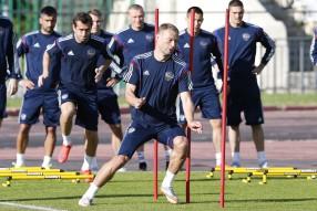 Тренировка сборной России 10.06.2015