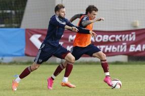 Тренировка сборной России 06.09.2015