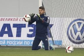 Тренировка сборной России 10.10.2014