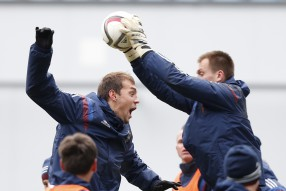 Тренировка сборной России 07.10.2015