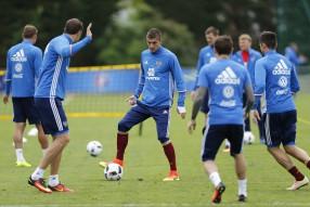 Тренировка сборной России 13.06.2016
