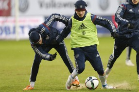 National Team of Russia pre-game training session  ...