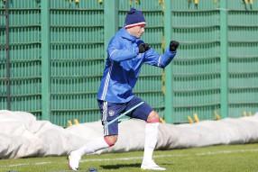 Тренировка сборной России 23.03.2016