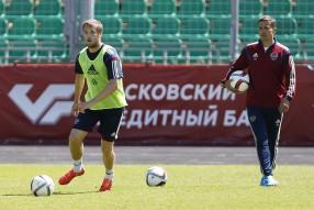 Тренировка сборной России и пресс-конференция 13.0 ...