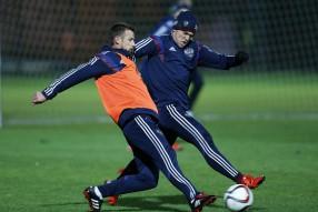 Тренировка сборной России 10.10.2015