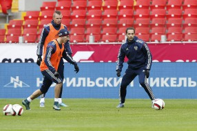 Тренировка сборной России 11.10.2015