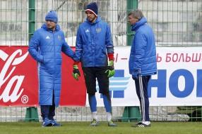Тренировка сборной России 24.03.2016