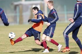 Тренировка сборной России 11.11.2015 года