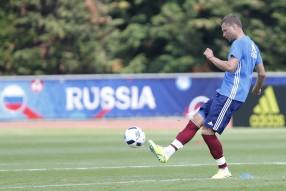 Тренировка сборной России 07.06.2016