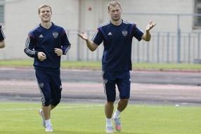 Тренировка сборной России 04.06.2015