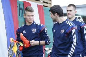 Тренировка сборной России 11.11.2014
