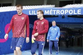 Тренировка сборной России 14.06.2016