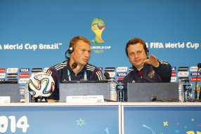 Тренировка сборной и пресс конференция 21.06.2014