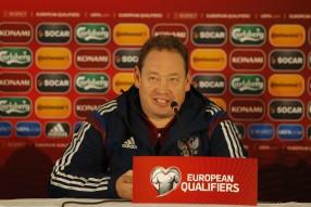 Тренировка сборной России  и пресс конференция