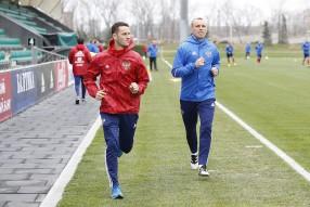 Тренировка сборной России в Краснодаре 22.03.2017