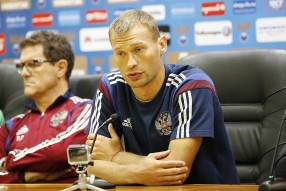Тренировка сборной России и пресс конференция 02.0 ...