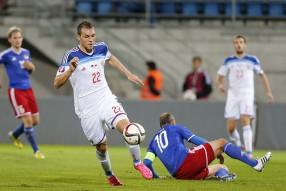 Лихтенштейн - Россия 0 - 7. Матч отборочного турни ...